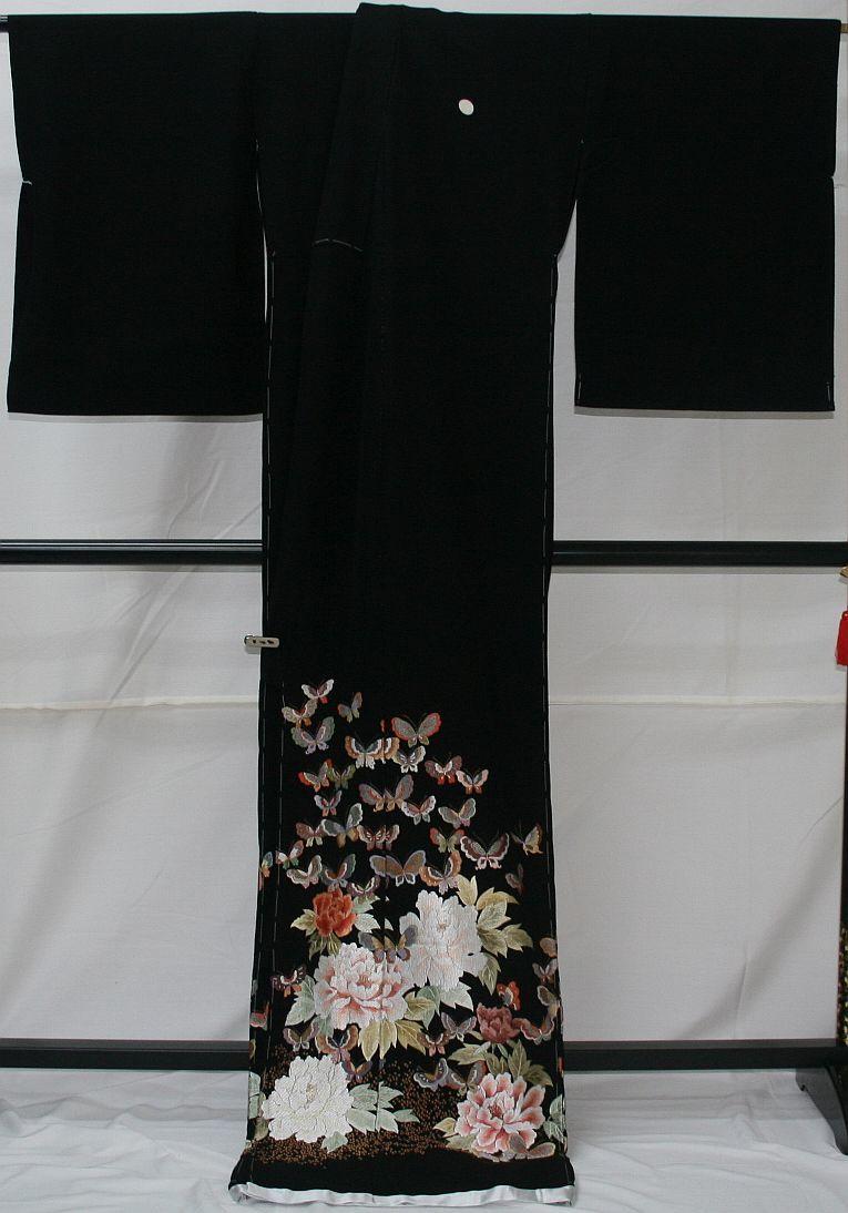 ◆高級手縫い仕立付◆弊社工房オリジナル◆手刺繍◆特別黒留袖◆_画像6
