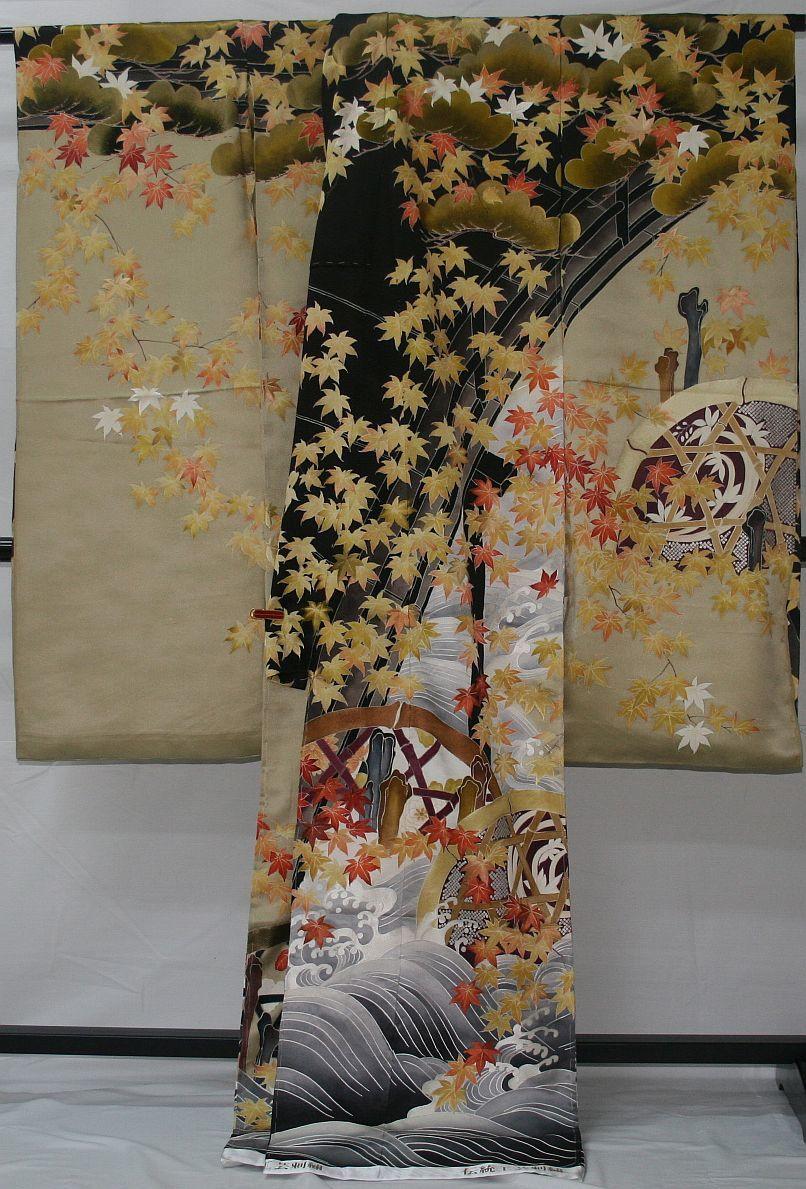 ◆一品物◆弊社工房オリジナル◆手刺繍と手描き友禅◆お誂えお仕立て付 振袖1_画像5