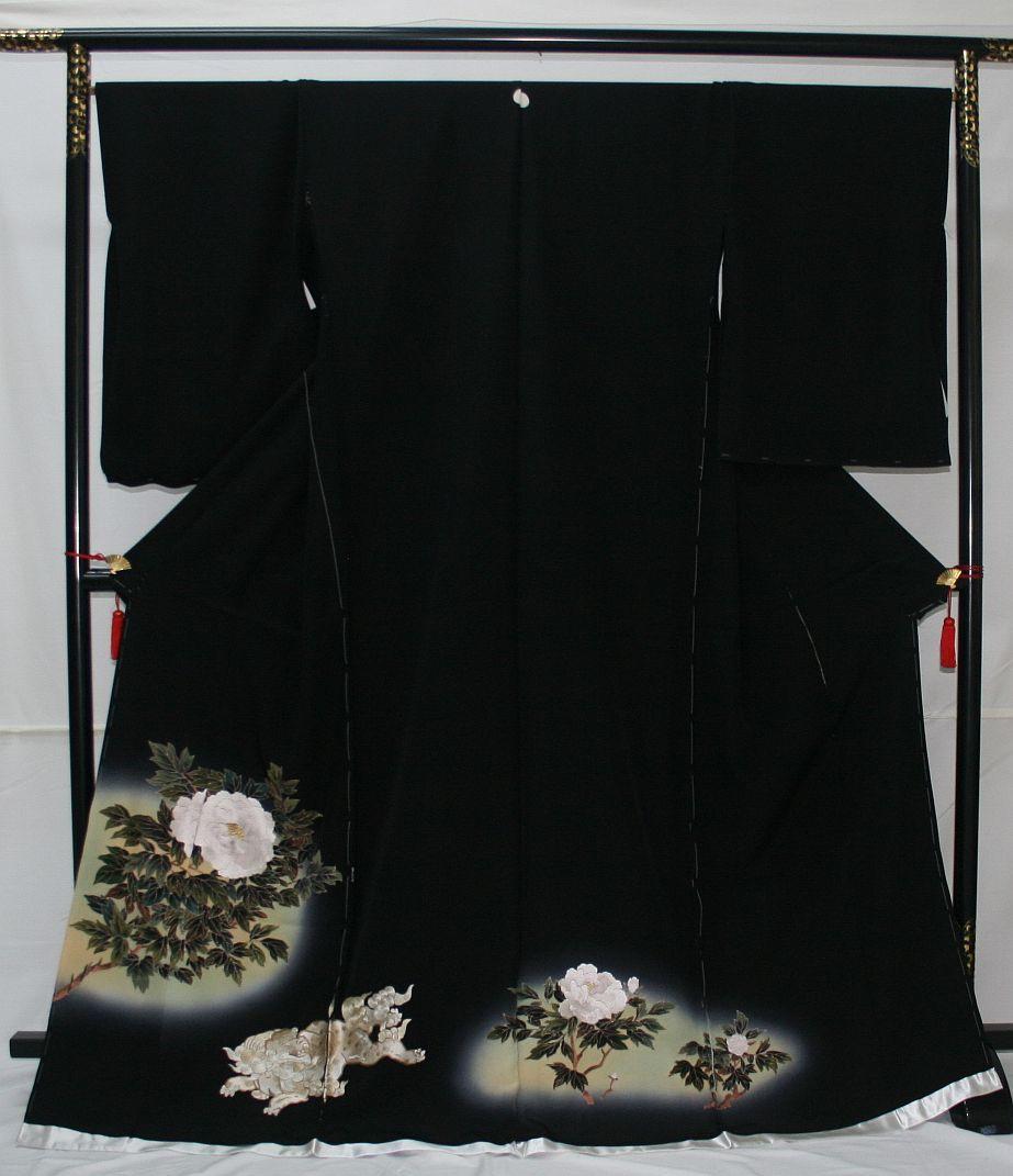 ◆高級手縫い仕立付◆弊社工房オリジナル◆手刺繍◆特別黒留袖◆1_画像1