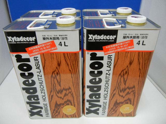 10654 新品 キシラデコール ?115 スプルース 4L×4缶 木材保護塗料