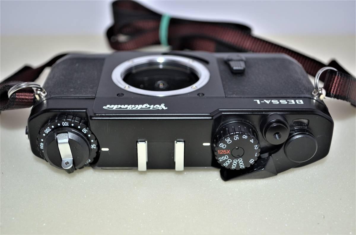 ★完動美品★ Voigtlander フォクトレンダー BESSA-L 黒 ブラック ボディ K230_画像2