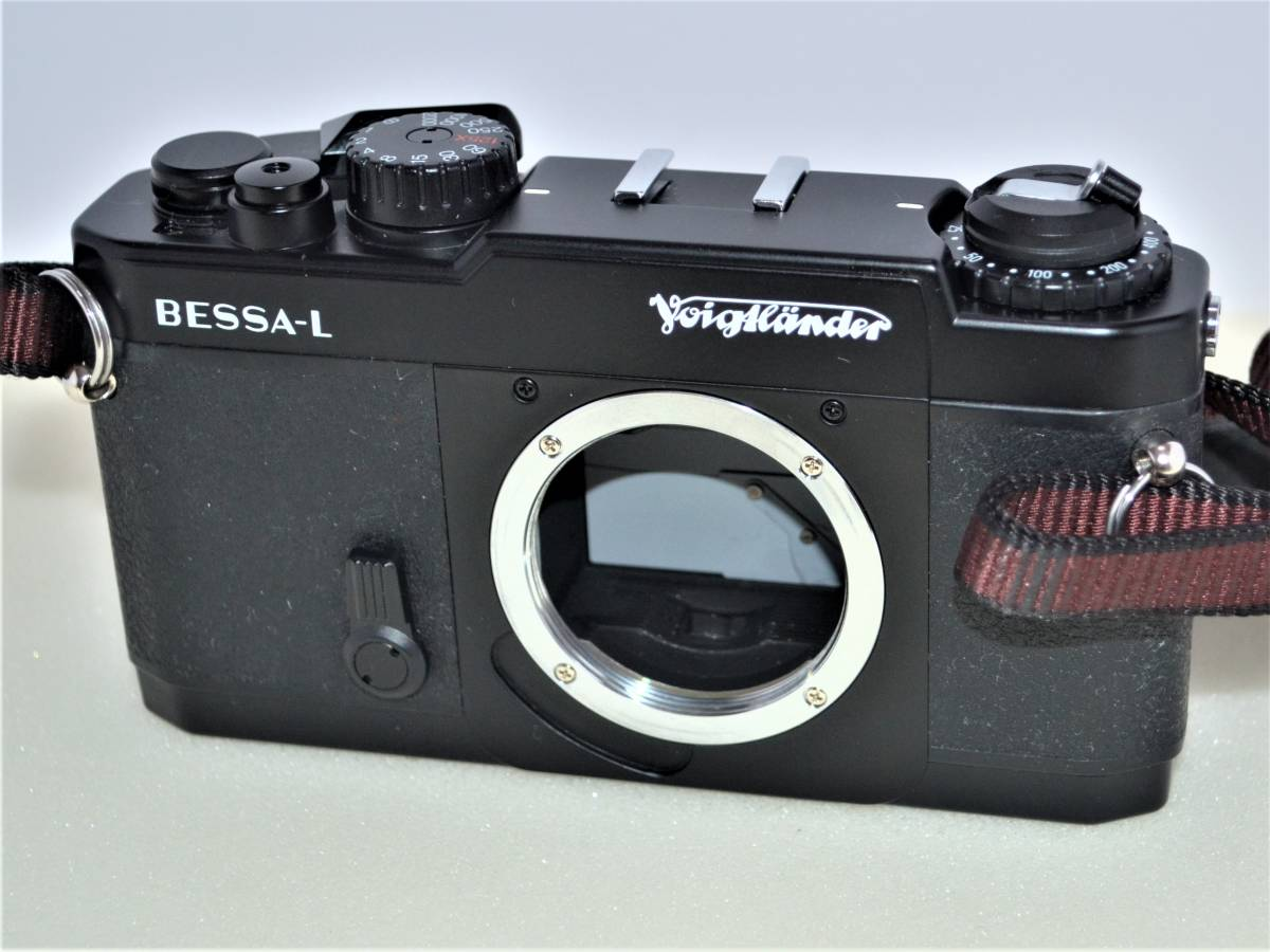 ★完動美品★ Voigtlander フォクトレンダー BESSA-L 黒 ブラック ボディ K230