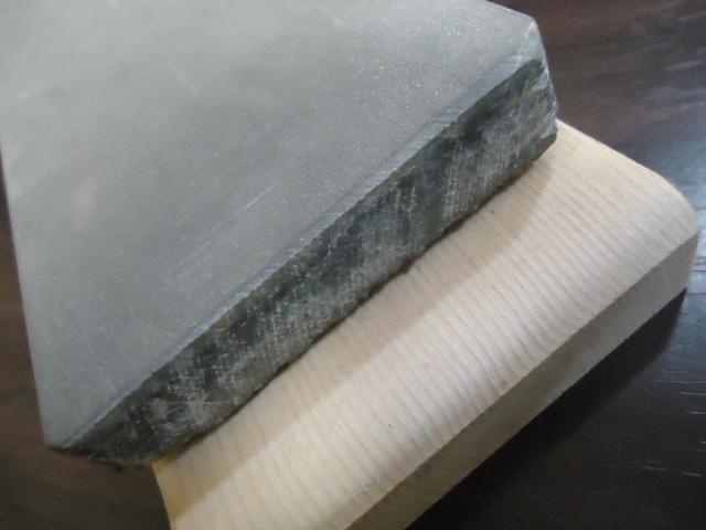 良質の石が安く入荷・天然砥石 大平山 木台付き  NO735_画像4