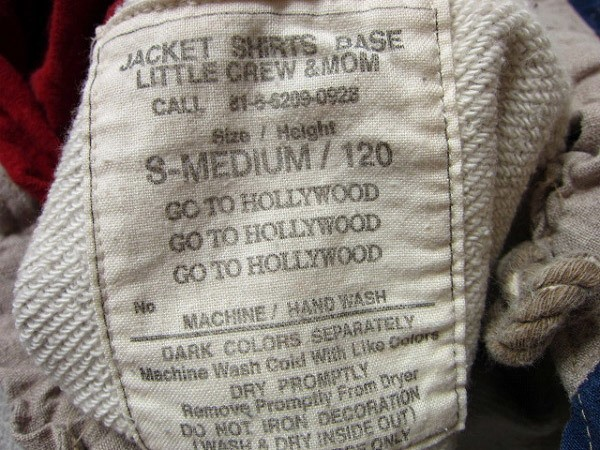 子供服/GO TO HOLLYWOOD/スウェット パーカー【120】ビンテージ加工/キッズ/ゴートゥーハリウッド/PV_画像4