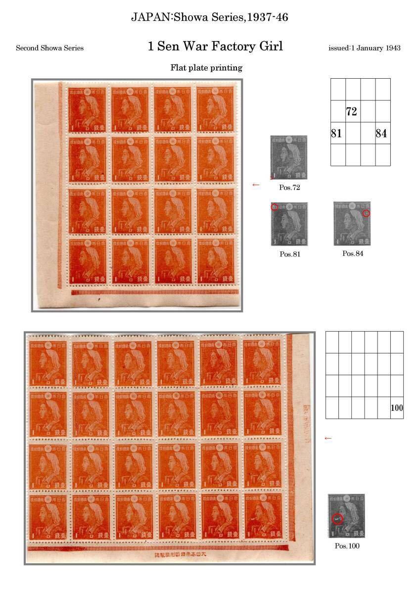 1銭女工の定常変種多数含むブロック3_画像1