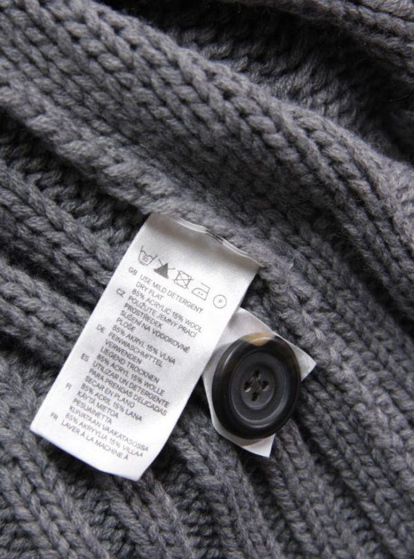 ★B179☆ H&M ケーブル編み ロングニットカーディガン フード付 グレー系 レディース トップス アウター ざっくりあたたか_画像3