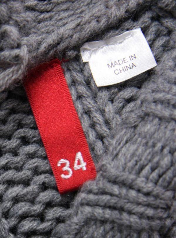 ★B179☆ H&M ケーブル編み ロングニットカーディガン フード付 グレー系 レディース トップス アウター ざっくりあたたか_画像2
