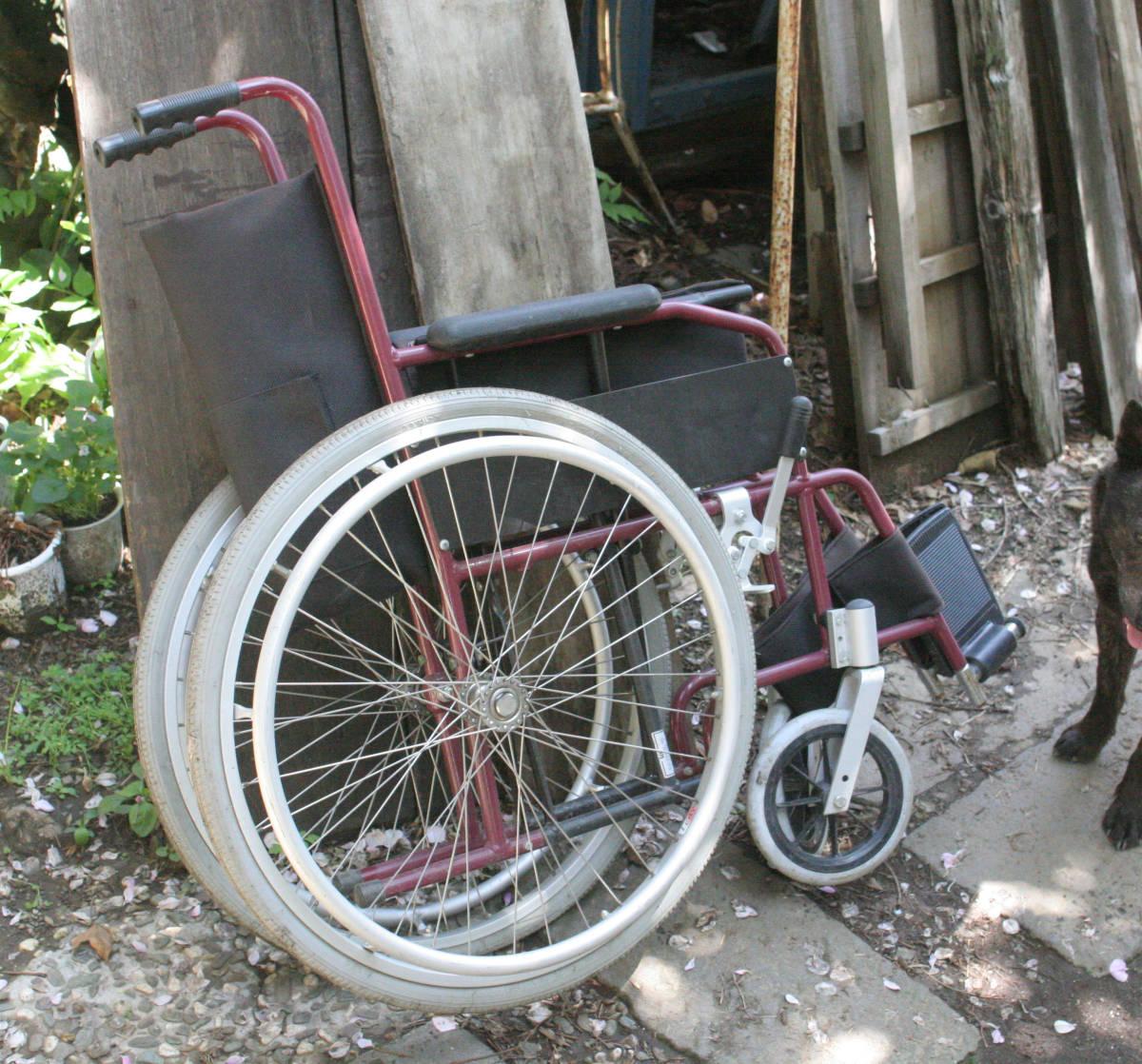 車椅子 折り畳み 軽量、アルミ製_画像2