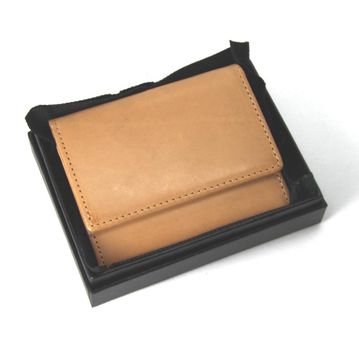 三つ折り財布 ヌメ革 本革 レザー ベージュ 原色 訳あり格安 NMS-7004-BE 残りわずか 値下げ_画像7