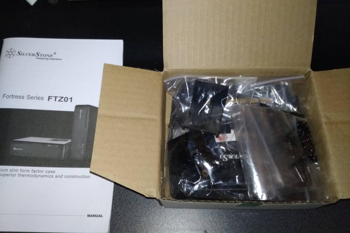 1円~ SilverStone SST-FTZ01B (Mini-ITX スリム itx dtx RVZ01 ML07B ゲーミング PCケース ftz HTPC スチール 光学ドライブ SFX 水冷) _画像4