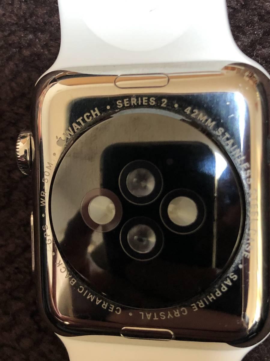 Apple Watch アップルウォッチ Series 2 ステンレス スチール 42mm ジャンク_画像4
