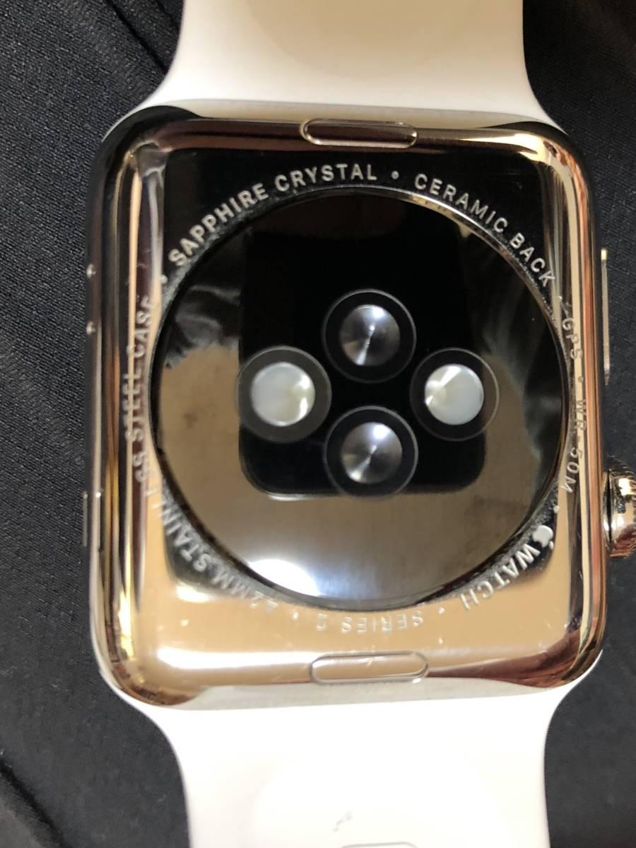 Apple Watch アップルウォッチ Series 2 ステンレス スチール 42mm ジャンク_画像3