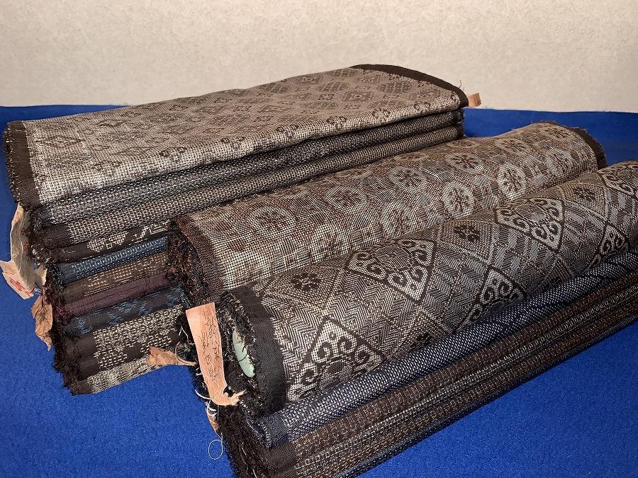 アンティーク・たくさんの大島紬洗い張り解き18点・本場大島龍郷古布着物リメイクパッ