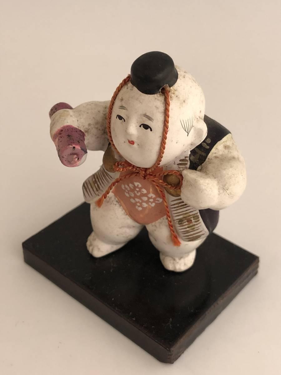 1274 箱入ミニ御所人形 勧進帳 陶製人形 _画像2
