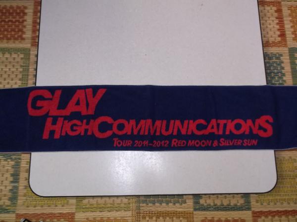 + GLAY グレイ 2011-2012 【 マフラータオル 】 ♪美品 HIGHCOMMUNICATIONS TOUR RED MOON & SILVER SUN_画像3