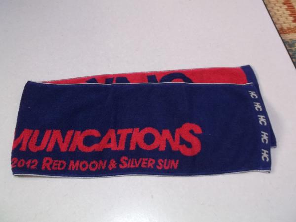 + GLAY グレイ 2011-2012 【 マフラータオル 】 ♪美品 HIGHCOMMUNICATIONS TOUR RED MOON & SILVER SUN_画像2