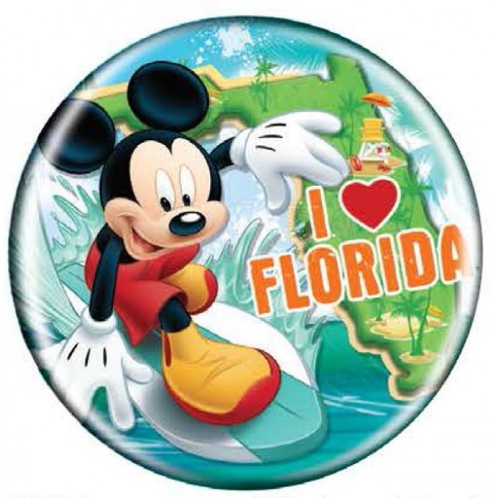 Disney (ディズニー) Mickey Mouse (ミッキーマウス) Button Magnet - Florida ★マグネット★_画像1