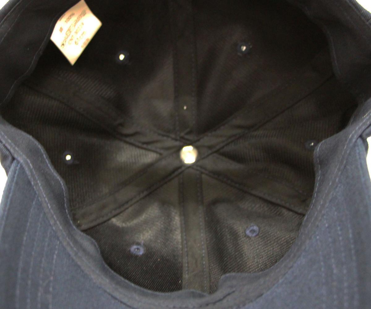 【58~61cmサイズ調節可能】NYC6パネルローキャップ Low cap 大きいサイズ帽子★ネイビー★新品_画像5