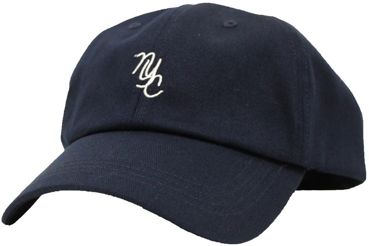 【58~61cmサイズ調節可能】NYC6パネルローキャップ Low cap 大きいサイズ帽子★ネイビー★新品_画像1