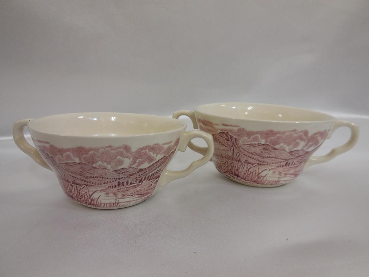 EIT LTD ENGLAND ビンテージ レトロ スープカップ 2個セット 英国製 珍品 食器 陶器_画像1