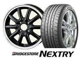 軽サイズ!新品セット!フェニーチェRX-1(数量限定カラー)4.5J-14 off+45 pcd100/4H ブリヂストンNEXTRY 155/65R14タイヤ付き4本セット_画像1
