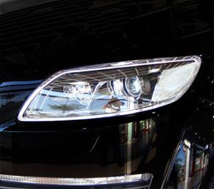 アウディ AUDI メッキ ヘッドライト ヘッドランプ リング リム Q7 Q7 2006~2015y OD_画像2