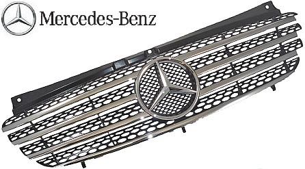 【M's】ベンツ W639 Vクラス ビアノ V350 (前期) 純正品 フロントグリル 正規品 ラジエターグリル 639-880-0285-9120 63988002859120_画像1
