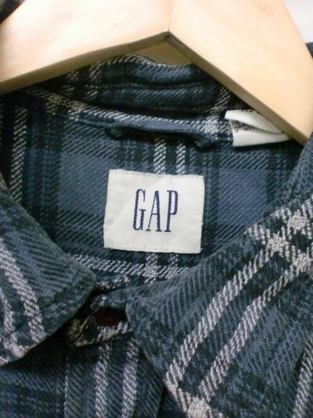 売り切りSALE!!GAPヘビーネルシャツ☆USAブランドシンプル重宝S_画像3