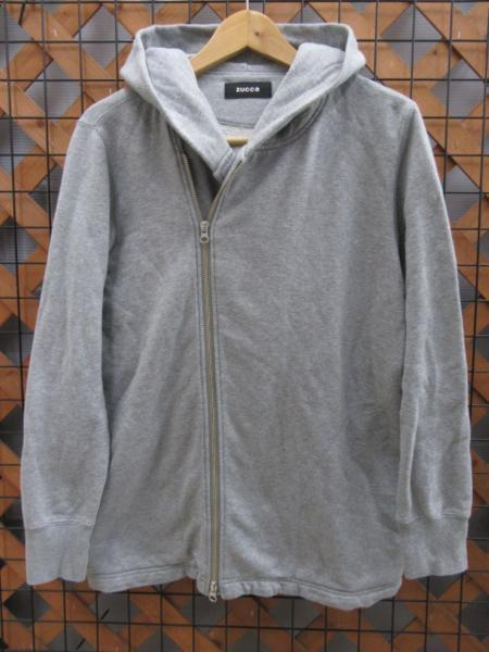 Caked ZUCCa double-zip up sweatshirt hoodie gray M notation ○1620-0○
