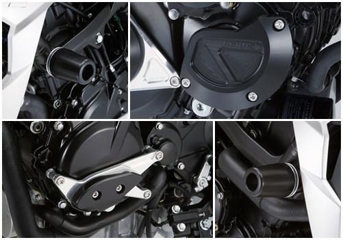 GSX-S750 ABS レーシングスライダー 4点セット! クランクタイプ+ジェネレーターAタイプ+フレームタイプ アグラス(AGRAS)_画像1