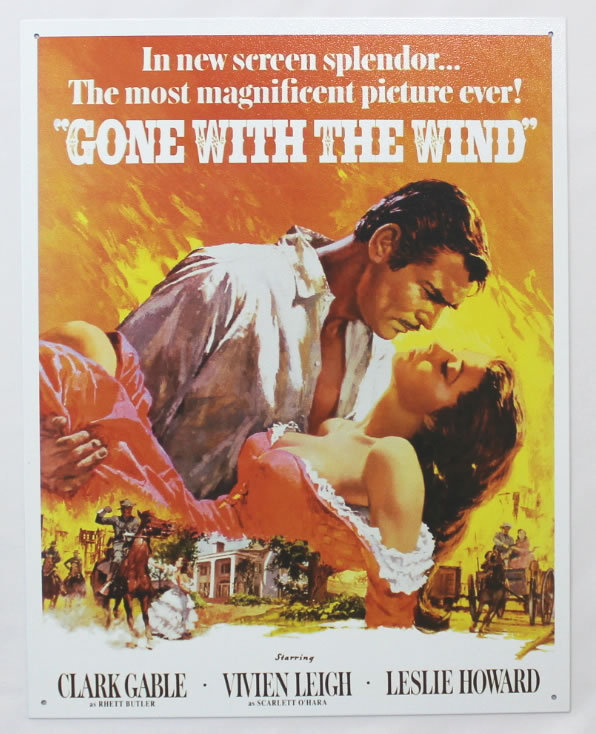 Gone With The Wind Poster ★ Tin Signs(ブリキ看板)【並行輸入品】_画像1