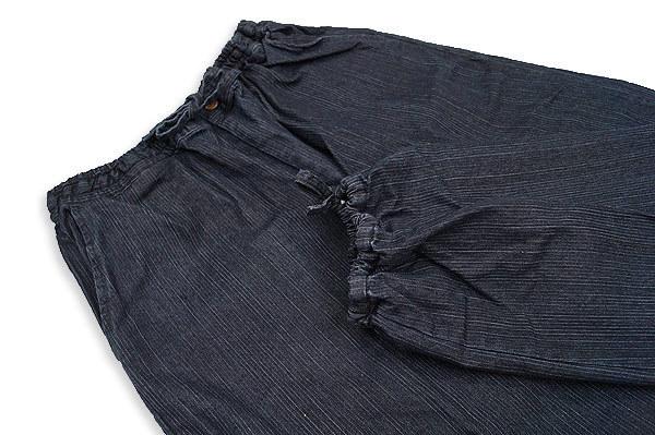 【ひめか】作務衣 メンズ デニムストレッチ作務衣 さむえ 黒LL_画像4