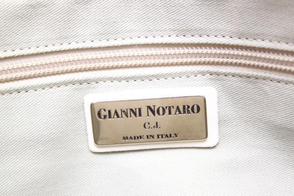1B512 美品! GIANNI NOTARO ジャンニ ノターロ 2WAY レザーバッグ 水色 ショルダーストラップ取り外し可 【ニューポーン】_画像7
