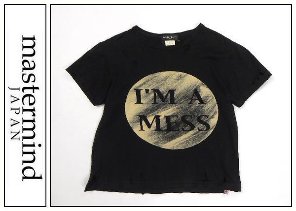 Z157■mastermaindマスターマインド■i'm a messTシャツ黒S■_画像1