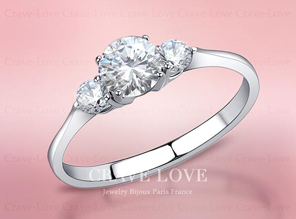 【16.5号】 3ストーン トリロジー シルバー ステンレス リング 指輪 ltr-1 女性 人気 3石 レディース ジュエリー 誕生日プレゼントにも・・_画像1