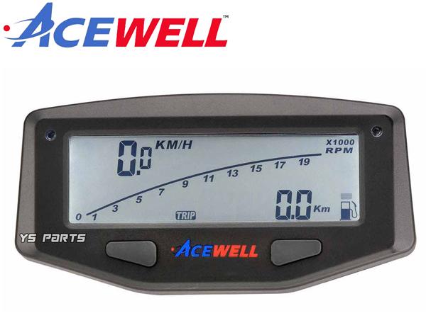 [1万回転/2万回転表示切替可能]ACEWELL完全防水マルチメーターSR400/TW225/セロー225/セロー250[電圧計/時計/水油温計/タコメーター機能]_画像6