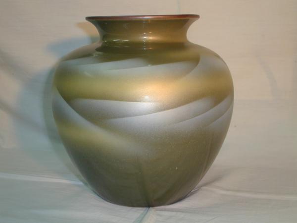 ★九谷焼 花瓶 高さ:19.5cm 幅:20cm 程度 [未使用品]_画像1