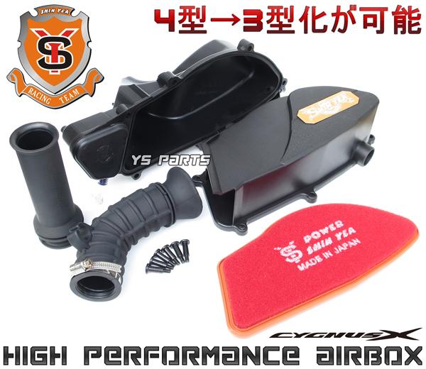 【正規品】SHIN YEA(シンヤ)4型/5型→3型化高効率エアクリボックス36mmシグナスX 4型[BF9国内/2UB台湾]シグナスX 5型[B8S国内/B2J台湾]_画像1