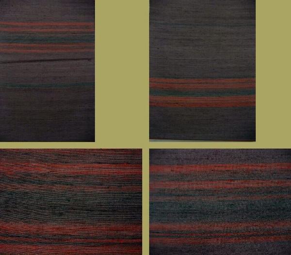 絹100% 本場米澤草木染つむぎ 真綿使用  未仕立反物_画像2