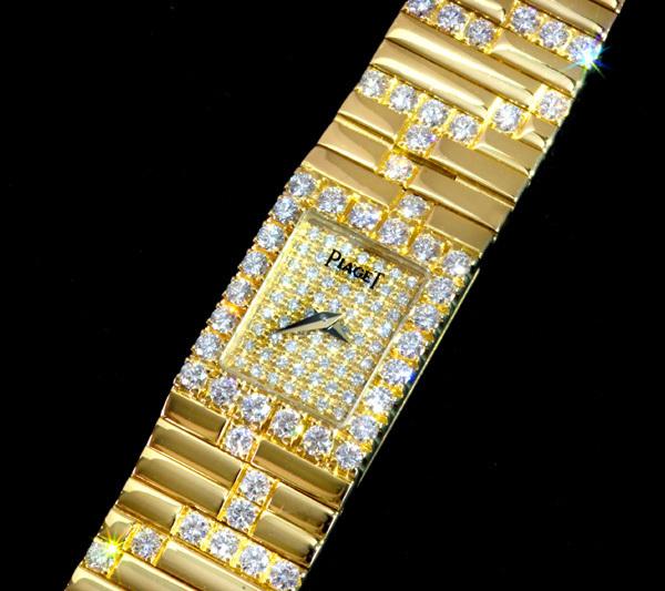 B5841【PIAGET】ピアジェ 正規OH済 純正ダイヤモンド 最高級18K無垢セレブリティレディQZ_画像2