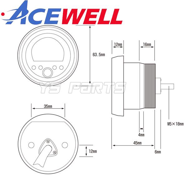 [正規品]ACEWELL完全防水マルチメーター SR400/TW200/TW225/セロー225/セロー250/WR250R/WR250F/XT250X[17種の機能]純正メーターギヤ使用可_画像10