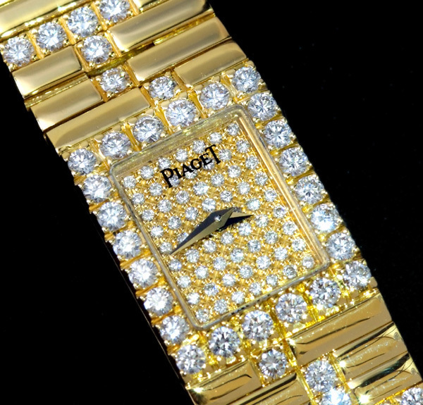 B5841【PIAGET】ピアジェ 正規OH済 純正ダイヤモンド 最高級18K無垢セレブリティレディQZ_画像1