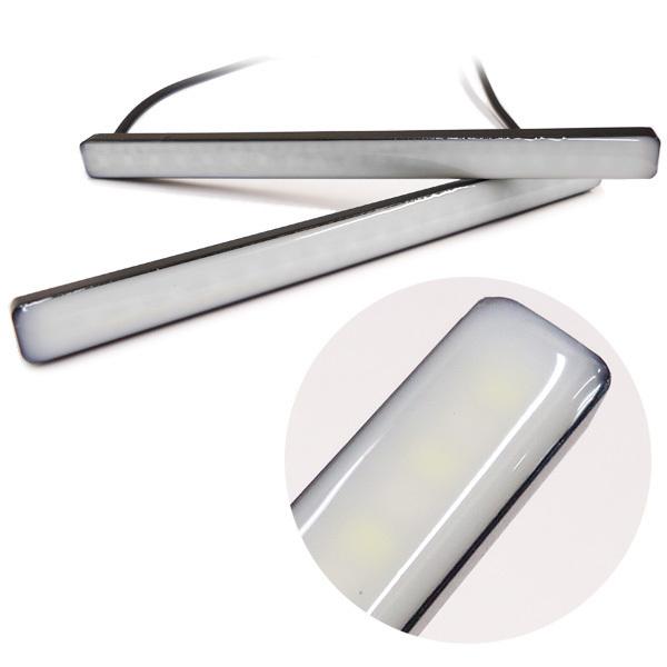 メール便 LED 計72連 シーケンシャル 流れる ウインカー 薄型 スティック デイライト 2個 レッド/アンバー リアマーカー 汎用[P]/c22_画像2