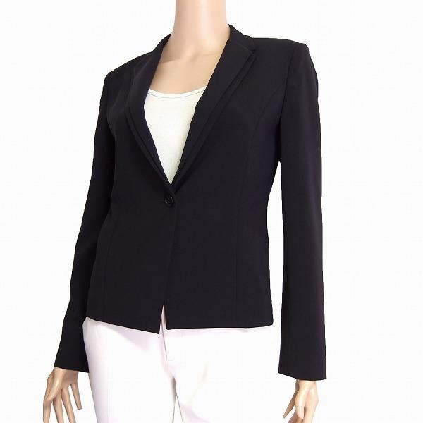 M美品/カルバンクライン Calvin Klein CK 美形テーラードジャケット 表記4号(9号/M相当) 黒/ブラック系 春夏秋向け アウター レディース_定番デザインの美形ジャケットです。
