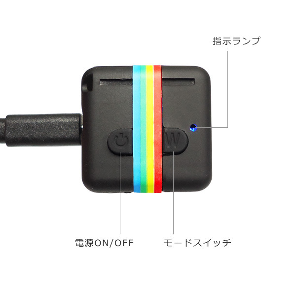 超小型DVカメラ USB充電 高画質FullHD TFカード対応 動体検知 暗視 広角 循環録画/12д_画像4