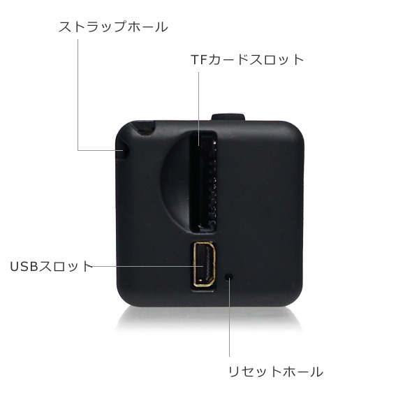 超小型DVカメラ USB充電 高画質FullHD TFカード対応 動体検知 暗視 広角 循環録画/12д_画像3