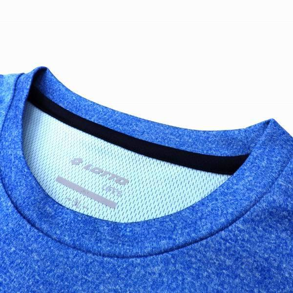 4L寸◆大きいサイズ◆ロットLOTTO◆長袖メンズ機能性Tシャツ◆ドライメッシュ素材◆再帰反射◆吸汗速乾◆L59204◆65ブルー_画像3