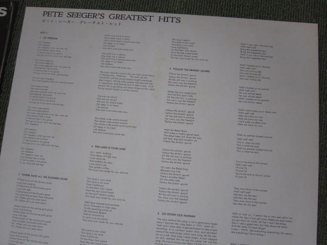 LP3389-ピート・シーガー PETE SEEGER'S GREATEST HITS_画像6