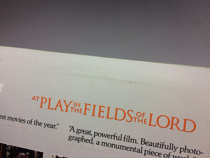 At Play in the Fields of the Lord 輸入盤 ◆2枚組LD(レーザーディスク)_画像6