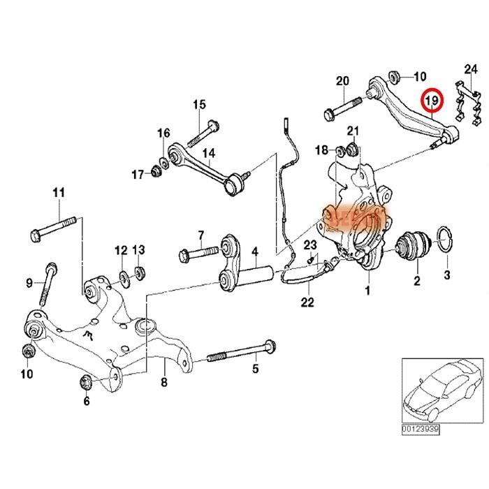BMW 5シリーズ E60 E61 525i 530i 530xi 540i 545i 550i M5 リア 左側 コントロールアーム (アッパーアーム) MEYLE製 33306772241_画像2